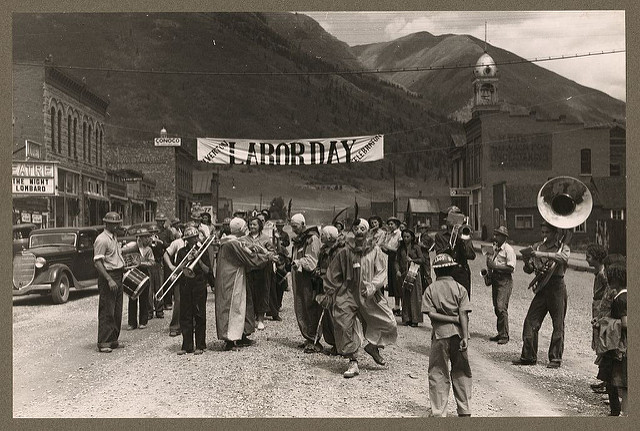 Labor Day Celebration. Silverton, Colorado. 1940. Photo by Lee Russel