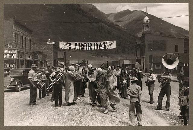 Labor Day Celebration. Silverton, Colorado. 1940. Photo by Lee Russel