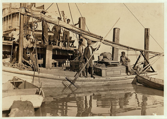 Young Oyster Fishers. Apalachicola, Florida. 1909. Photo by Lewis Hine.