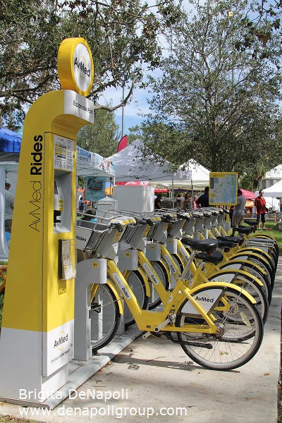 AvMed Rides bikes by Broward B-cycles. Station at Esplanade Park in Fort Lauderdale,FL