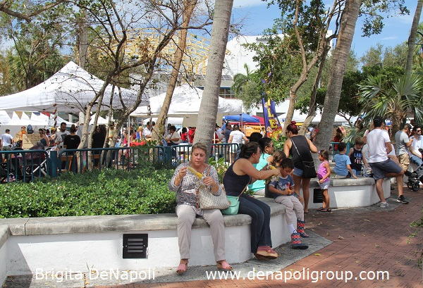 Esplanade Park is full of people during 3rd Annual Riverwalk Fall Festival, Fort Lauderdale, FL