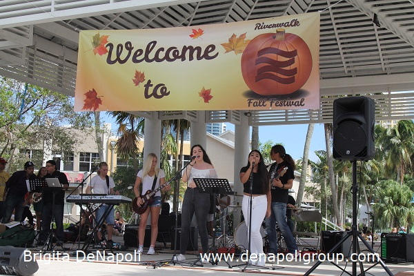 Live music from _Pro Music+ _ during 3rd Annual Riverwalk Fall Festival, Fort Lauderdale, FL