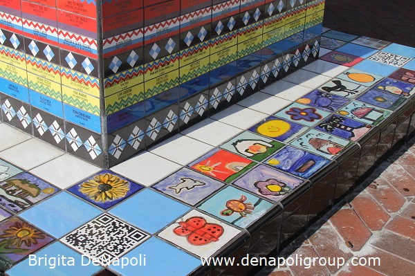 Children decorated tiles