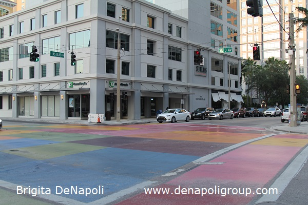 Painted intersection in Fort Lauderdale, FL ( E Las Olas Blvd & SE 3rd Av)