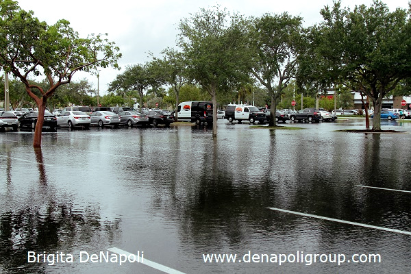 Parking lot flooding in Davie, FL (1)