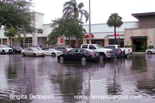 Parking lot flooding in Davie, FL (2)
