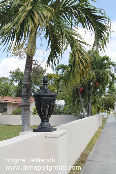 Fence around the property in Hollywood, FL