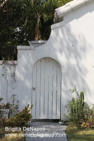 Gate to the side yard